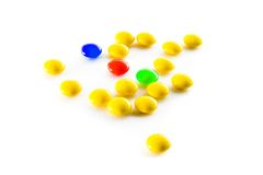 Colored tablets Royalty Free Stock Photos