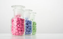 Colored tablets Stock Photos