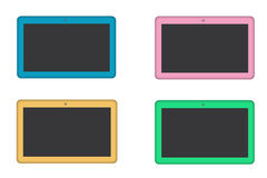 Colored tablets on white Royalty Free Stock Photos