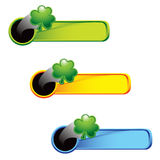 Colored tabs with shamrocks Royalty Free Stock Images