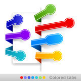 Colored tabs. Vector illustration Stock Photo