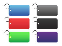 Colored tags - 2 - on white Stock Photos