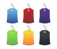 Colored tags - 3 - on white Royalty Free Stock Photo