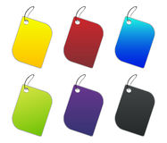 Colored tags - 4 - on white Royalty Free Stock Photography