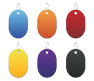 Colored tags - 6 - on white Royalty Free Stock Images