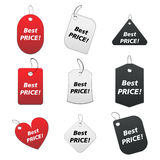 Colored tags - best price 4. 100% vectors - colored labels, tags Stock Illustration