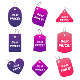 Colored tags - best price. 100% vectors - colored labels, tags Vector Illustration