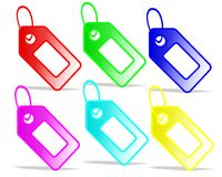 Colored tags, cdr vector Royalty Free Stock Photos