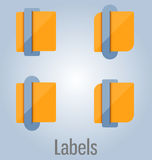 Colored tags and labels. Can be used for infographics, websites Royalty Free Stock Photography