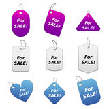 Colored tags - for sale 5 Royalty Free Stock Photos