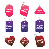 colored tags - super deal Stock Images