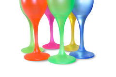Colored tall glasses Royalty Free Stock Photo
