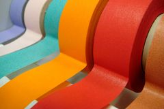 Colored Tape In Dispenser Royalty Free Stock Images