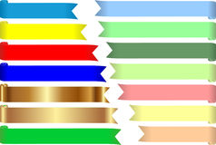 Colored tapes. Set of colored tapes for text Royalty Free Stock Photography