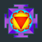 Colored Tara yantra illustration Stock Image