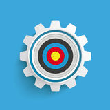 Colored Target Gear Blue Background Royalty Free Stock Photo