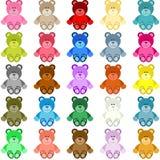Colored Teddy Bear Stock Photo
