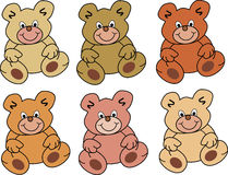 Colored teddybears Stock Photography