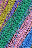 Colored telecommunication cables. As abstract background Stock Photo