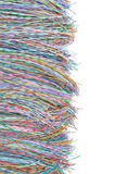 Colored telecommunication cables and wires Stock Photography