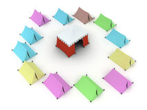 Colored Tents Stock Image