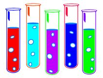 Colored test tubes Royalty Free Stock Photography