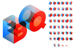 Colored text in isometric view Royalty Free Stock Image