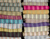 Colored textile Stock Photos