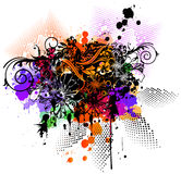 Colored textile design Stock Photography