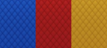Colored textile quilted texture Royalty Free Stock Photography