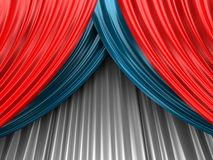 Colored theater curtain Stock Photo