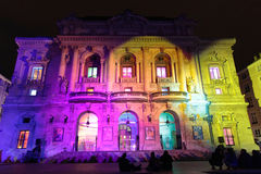 Colored Theater on Place des Celestins Royalty Free Stock Photography