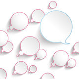 Colored Thought And Speech Bubbles Royalty Free Stock Image