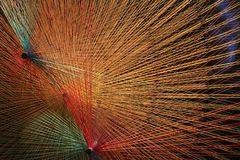 Colored thread of art exposition. Colored thread of artistic exposition royalty free stock image