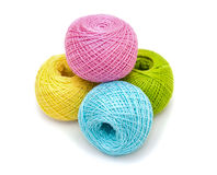 Colored thread for knitting Stock Photos
