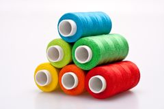 Colored thread for sewing Royalty Free Stock Photo