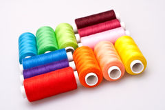 Colored thread for sewing Royalty Free Stock Photos