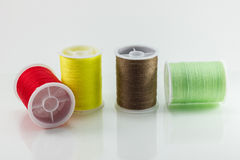 Colored thread. On a white background Royalty Free Stock Photos