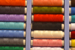 Colored threads. Isoleted on the white background Stock Images