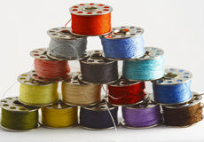 Colored threads. Isoleted on the white background Stock Photos