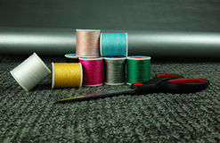 Colored threads Stock Photo