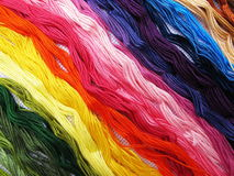Colored threads. Abstract background with colored threads Stock Image