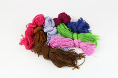 Colored threads for knitting Stock Images