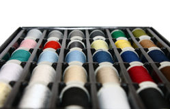 Colored threads set for sewing Stock Image