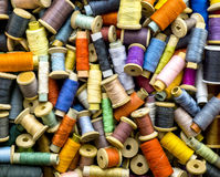 Colored threads for sewing Stock Photos