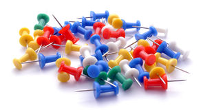 Colored thumbtacks Stock Images