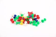Colored thumbtacks Royalty Free Stock Images