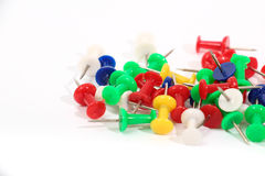 Colored thumbtacks Stock Photography