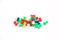 Colored thumbtacks Royalty Free Stock Photography