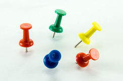 Colored Thumbtacks to remember things to do Royalty Free Stock Image
